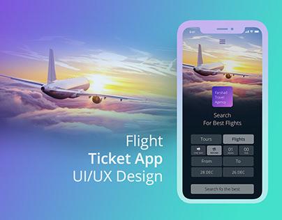 Fligh and Tour Search Mobile app design