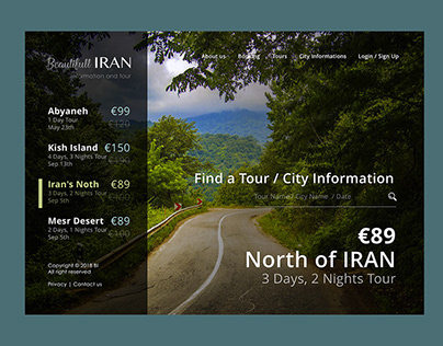 Iran Trips portal UX UI Design