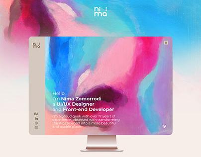 Nima Zomorrodi Website design - UI/UX Designer